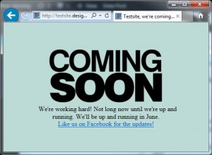 How to Setup a 'Coming Soon' or 'Under Construction' page in